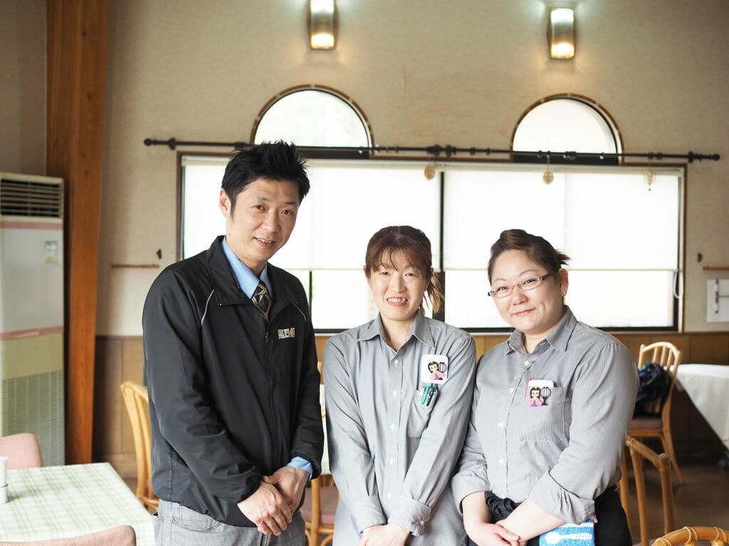 西紀中地区 黒豆の館 細見真司さん、瀬川信恵さん、和中美香さん